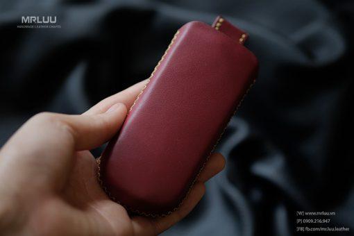 Bao da Nokia 8800 dây rút da bò